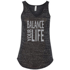 "Womens ""Balance Your Life"" Flowy Yoga Tank Top - Yoga Clothing for You - 1"