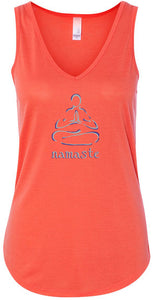"Womens ""Namaste Lotus"" Flowy Yoga Tank Top"