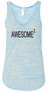 Ladies Awesome Cubed Flowy Tank Top