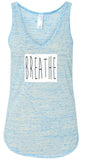 "Womens ""Breathe"" Flowy Yoga Tank Top"