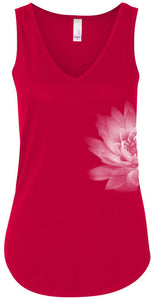 Womens Lotus Flower Flowy Tank Top