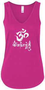 Ladies Yoga Tank Top - Om Mani Padme Hum