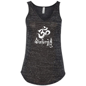 Ladies Yoga Tank Top - Om Mani Padme Hum - Yoga Clothing for You