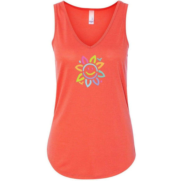 Womens Sunflower Flowy Yoga Tank Top - Yoga Clothing for You