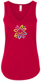 Womens Sunflower Flowy Yoga Tank Top