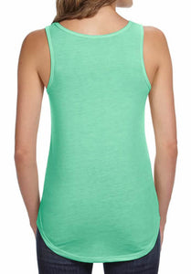 Yoga Clothing For You Ladies AUM Om Flowy V-Neck Tank Top