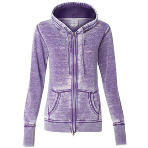 Womens Patriotic OM Full Zip Hoodie - Yoga Clothing for You - 6