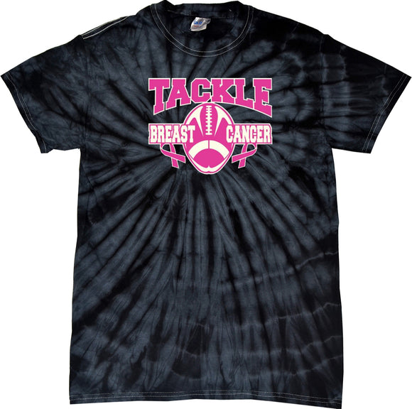 Breast Cancer T-shirt Tackle Cancer Spider Tie Dye Tee