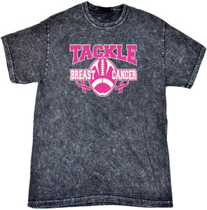 Breast Cancer T-shirt Tackle Cancer Mineral Washed Tie Dye Tee