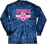 Breast Cancer T-shirt Tackle Cancer Tie Dye Long Sleeve