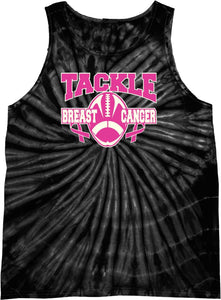 Breast Cancer Tank Top Tackle Cancer Tie Dye Tanktop
