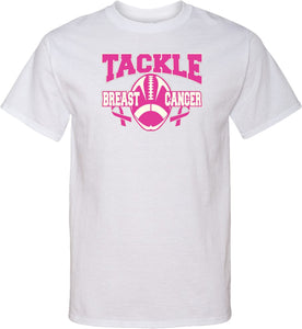 Buy Cool Shirts Breast Cancer T-shirt Tackle Cancer Tall Tee