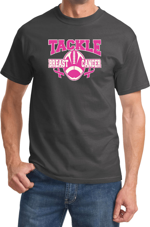 Buy Cool Shirts Breast Cancer T-shirt Tackle Cancer Tee
