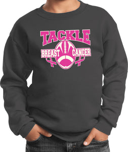 Kids Breast Cancer Sweatshirt Tackle Cancer
