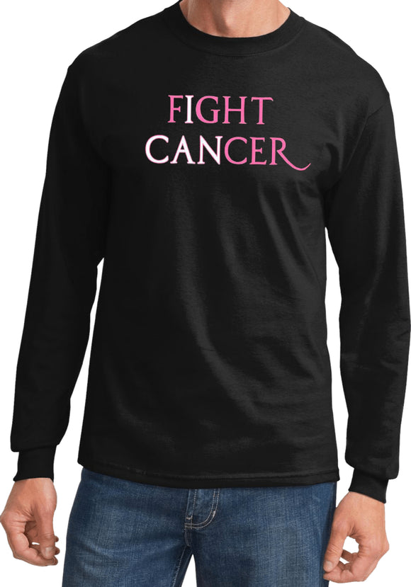 Breast Cancer T-shirt I Can Fight Cancer Long Sleeve