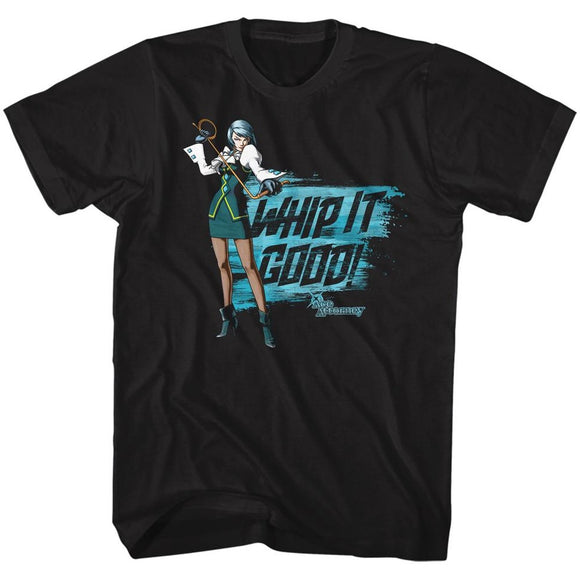 Ace Attorney Franziska Whip It Good Gaming Adult Black Tall Shirt