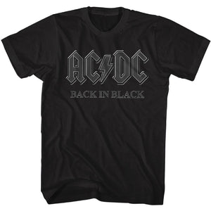 AC/DC Tall T-Shirt Back In Black Tee