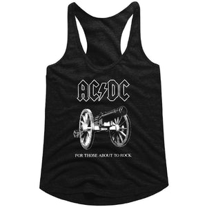 AC/DC Ladies Racerback Tanktop For Those About To Rock Black Tank