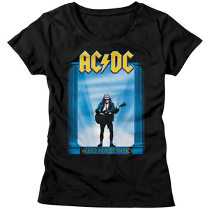 AC/DC Ladies T-Shirt Who Made Who Album Cover Black Tee