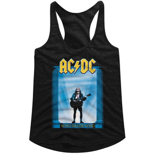 AC/DC Ladies Racerback Tanktop Who Made Who Album Cover Black Tank