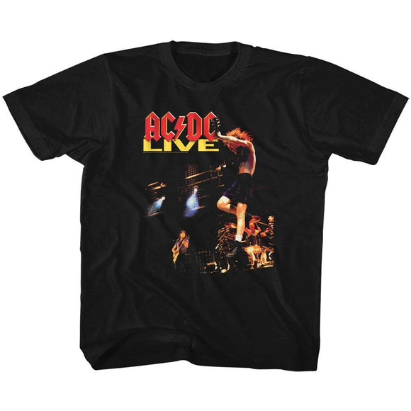 AC/DC Kids T-Shirt Live Album Cover Black Tee