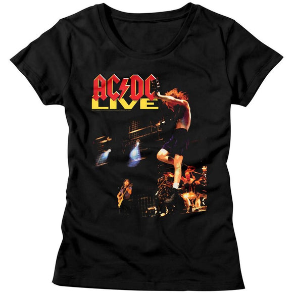 AC/DC Ladies T-Shirt Live Album Cover Black Tee