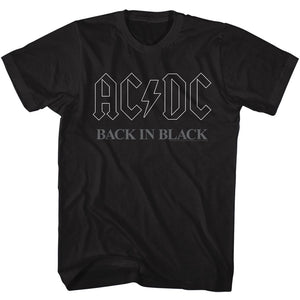 AC/DC T-Shirt Back In Black Logo Outline Tee