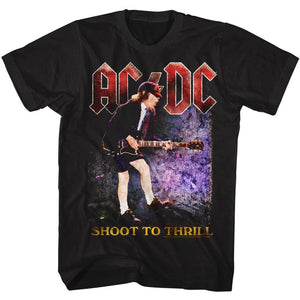 AC/DC T-Shirt Shoot To Thrill Colorful Black Tee