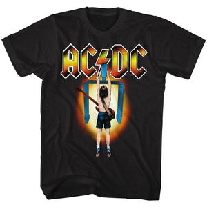 AC/DC T-Shirt Flick Of The Switch Colorful Black Tee