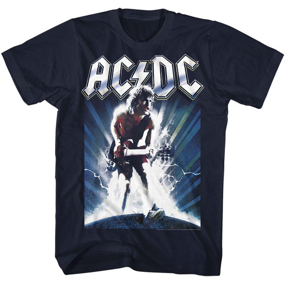 AC/DC T-Shirt Lightning Guitar Solo Black Tee