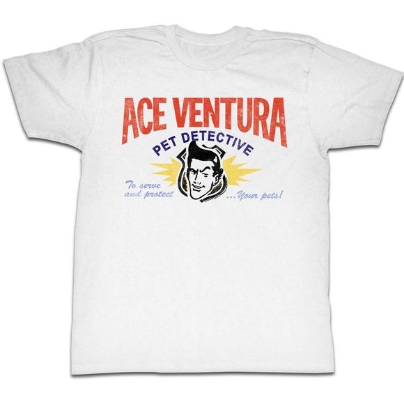 Ace Ventura T-Shirt Business Card White Tee