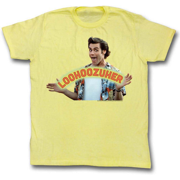 Ace Ventura T-Shirt Pet Detective Loser Loohoozuher Yellow Tee