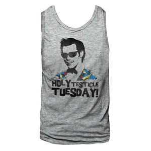 Ace Ventura Ladies Racerback Tanktop Holy Testicle Tuesday Gray Tank