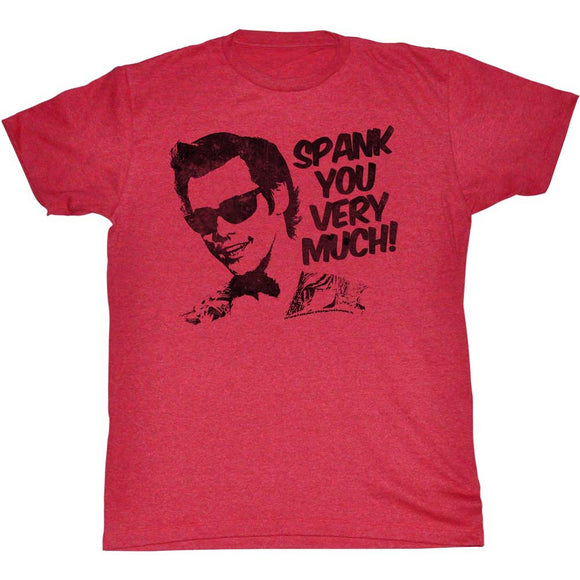 Ace Ventura T-Shirt Pet Detective Spank You Very Much Red Heather Tee