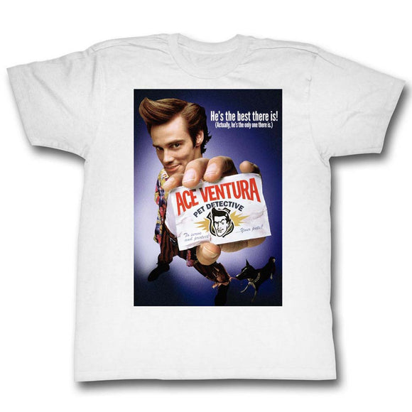 Ace Ventura Tall T-Shirt Pet Detective Color Poster Best There Is White Tee