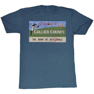 Ace Ventura T-Shirt Pet Detective Welcome To Collier County Navy Tee