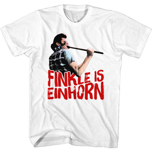 Ace Ventura Tall T-Shirt Pet Detective Finkle is Einhorn Plunger White Tee