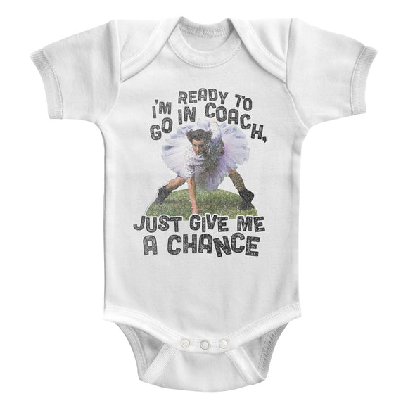 Ace Ventura Infant Bodysuit Ready To Go In Coach White Romper