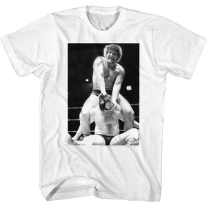 Andre The Giant Tall T-Shirt Neck Cracked White Tee
