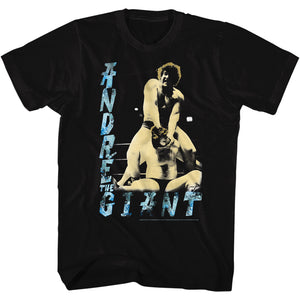 Andre The Giant T-Shirt 1980s Dre Black Tee