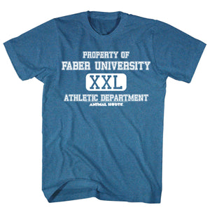 Animal House T-Shirt Property Of Faber University Blue Heather Tee