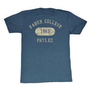 Animal House T-Shirt Faber College 1963 Phys Ed Navy Tee