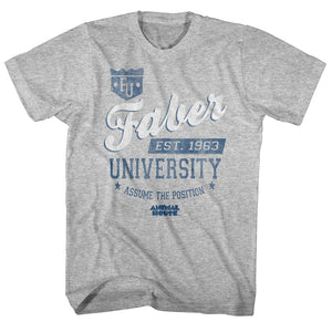 Animal House T-Shirt University Assume The Position Grey Heather Tee