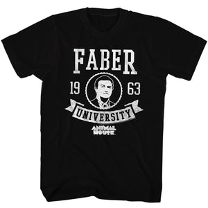 Animal House T-Shirt Faber University 1963 Black Tee
