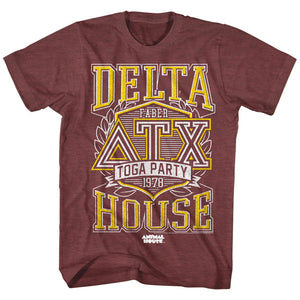 Animal House T-Shirt 7 Years Of College Down The Drain Maroon Heather Tee