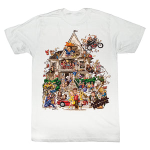 Animal House Tall T-Shirt Color House Party Cartoon White Tee