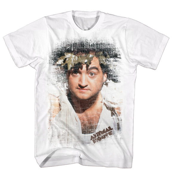 Animal House Tall T-Shirt Distressed Toga Portrait White Tee