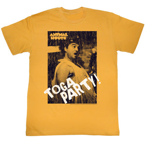 Animal House T-Shirt Toga Party! Distressed Portrait Gold Tee