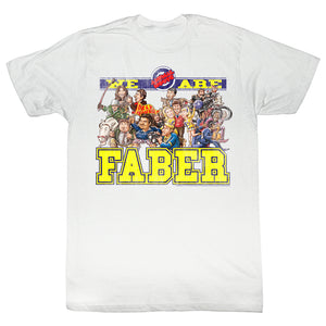 Animal House Tall T-Shirt We Are Faber Cartoon White Tee