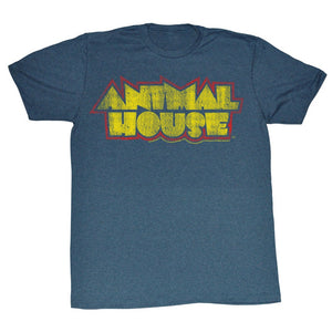 Animal House T-Shirt Animal House Retro Logo Navy Heather Tee